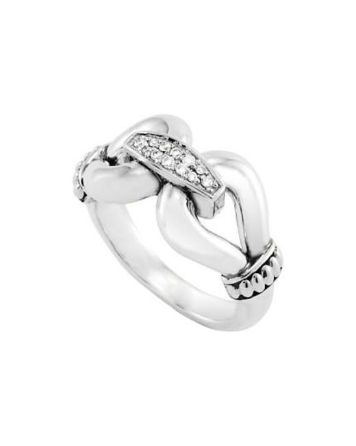 Lagos | Metallic 'derby' Large Diamond Ring | Lyst