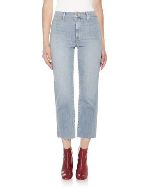 Joe's - Blue Jane High Waist Crop Boyfriend Jeans - Lyst