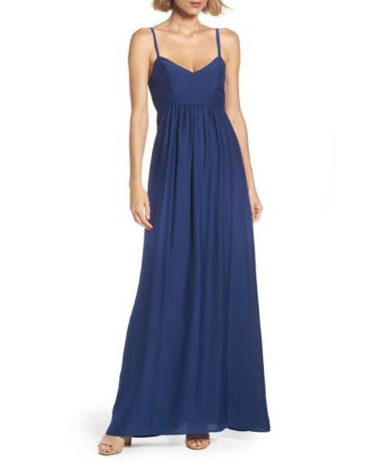Felicity & Coco | Blue Woven Maxi Dress | Lyst