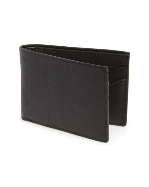 Skagen   Black 'ambold' Leather Wallet for Men   Lyst