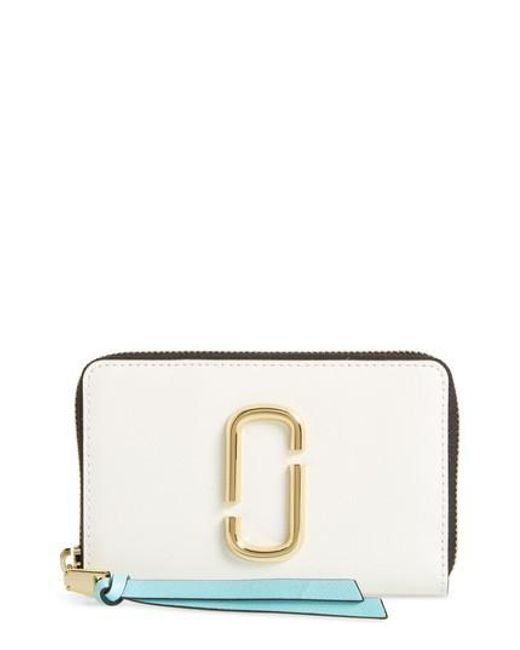Marc Jacobs - Multicolor Small Snapshot Leather Zip-around Wallet - Lyst