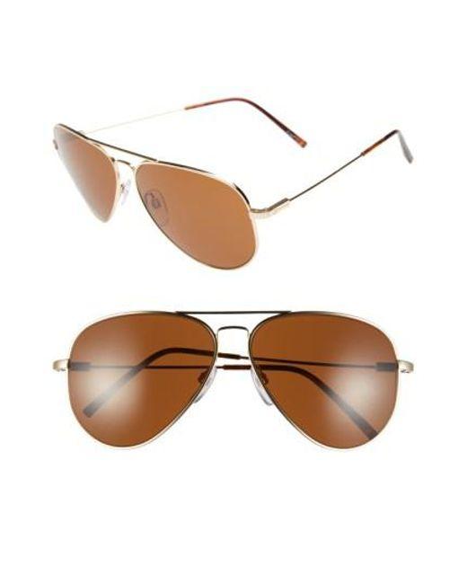 Electric - Metallic 'av1 Xl' 62mm Aviator Sunglasses - Lyst