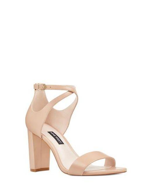 Nine West - Brown Nunzaya Ankle Strap Sandal - Lyst