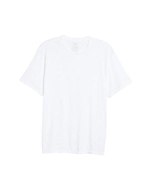 Vince - White Slub Crewneck T-shirt for Men - Lyst