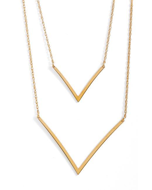 Jennifer Zeuner - Metallic Tila Double-v Necklace - Lyst