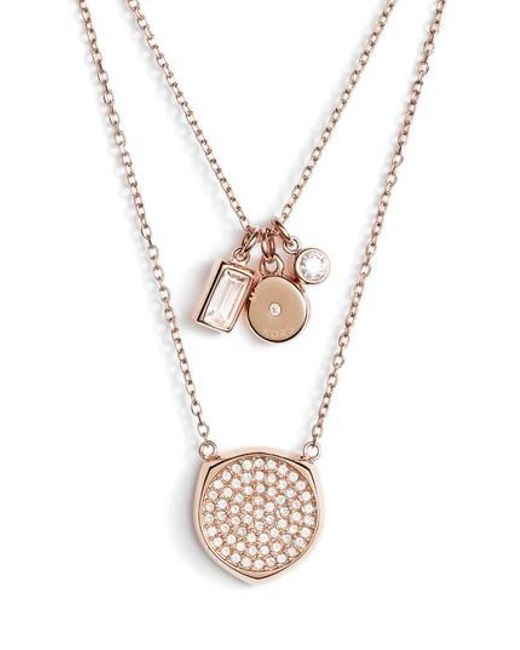 Michael Kors | Metallic Charm Pendant Necklace | Lyst