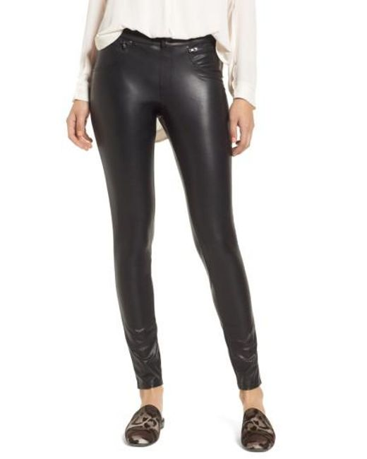 Hue | Black Leatherette Leggings | Lyst