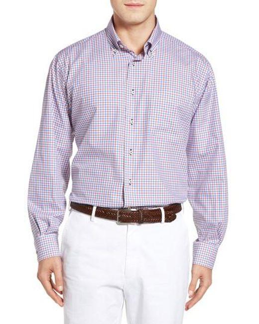 Lyst robert talbott estate classic fit check sport shirt for Robert talbott shirts sale
