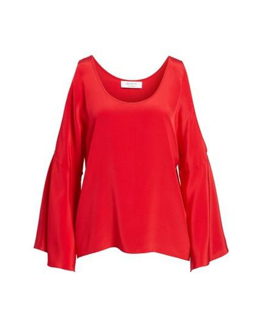 Free Shipping Best Sale Cheap 2018 Newest Bailey 44 Woman Bonsai Cold-shoulder Silk Top Red Size L Bailey 44 Cheapest Cheap Online loWvZr3CH