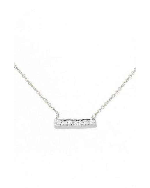Dana Rebecca - White 'sylvie Rose' Diamond Bar Pendant Necklace - Lyst