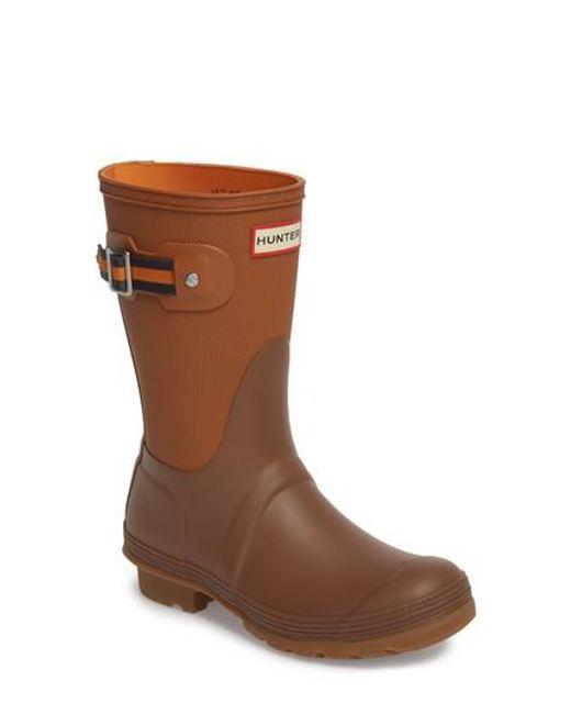 Hunter   Brown Original Sissinghurst Short Rain Boot   Lyst