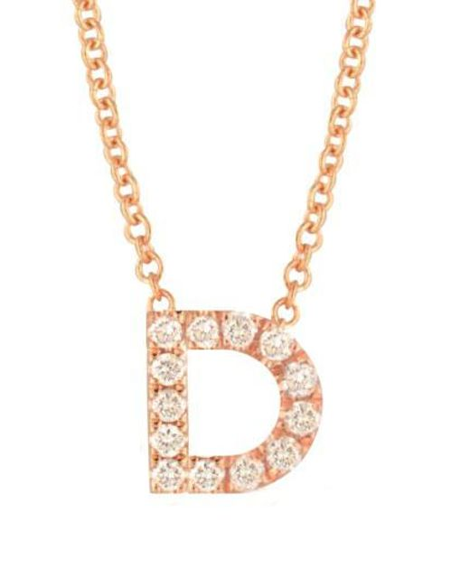 Bony Levy - Metallic 18k Gold Pave Diamond Initial Pendant Necklace (nordstrom Exclusive) - Lyst