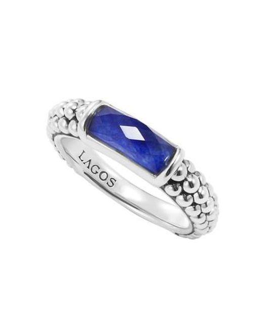 Lagos   Blue 'maya' Stackable Caviar Ring   Lyst