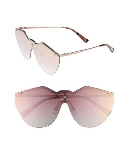 31a9283e5d Lyst - Le Specs 140mm Shield Sunglasses in Pink - Save ...