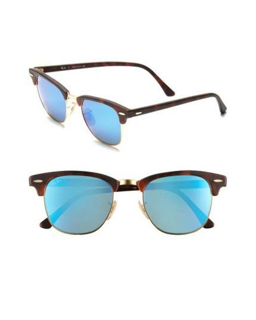 Ray-Ban | Blue 'flash Clubmaster' 51mm Sunglasses for Men | Lyst