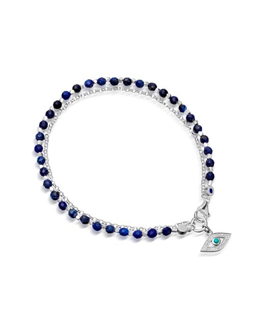 Astley Clarke - Blue Evil Eye Biography Bracelet - Lyst