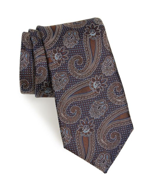 Nordstrom Brown Emery Paisley Silk Tie for men
