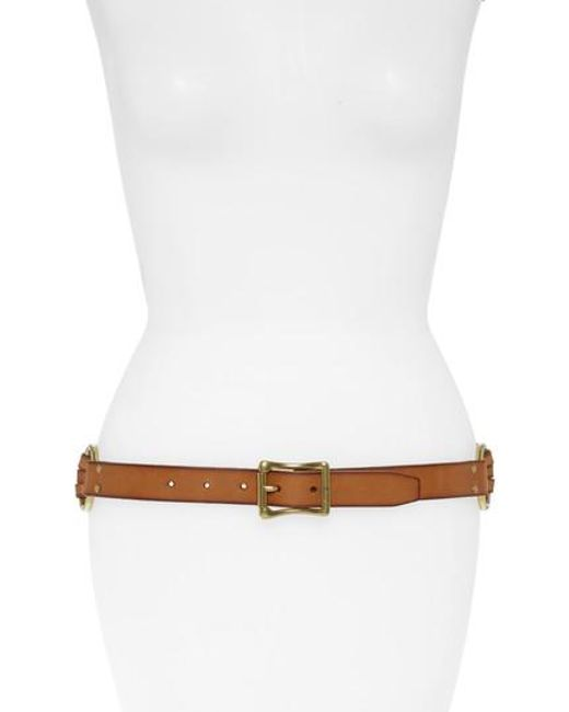 Frye - White Multi Strap Leather Belt - Lyst