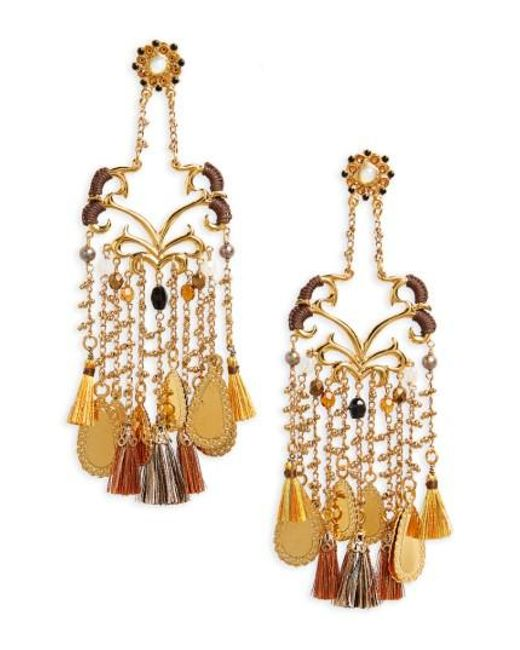 Gas Bijoux | Metallic Volupte Shoulder Duster Earrings | Lyst