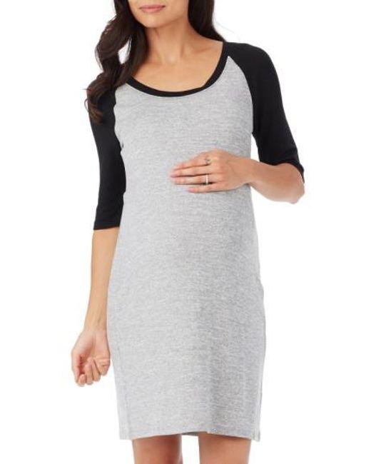 Rosie Pope - Gray 'derek' Raglan Sleeve Maternity Dress - Lyst