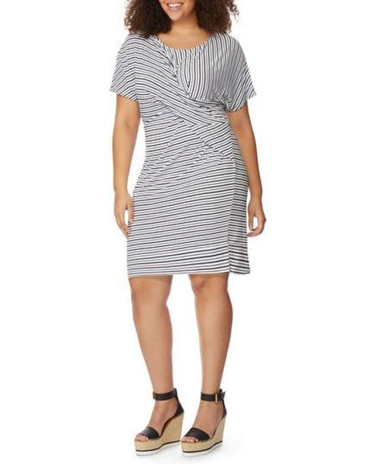 REBEL WILSON X ANGELS - Multicolor Twist Stripe Dress - Lyst