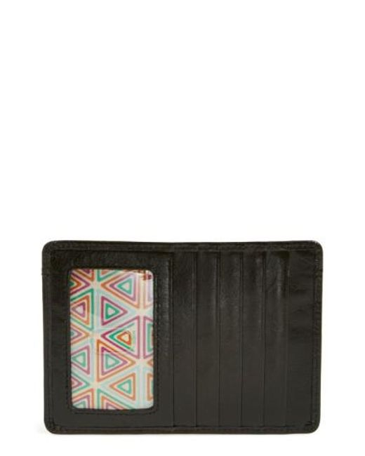 Hobo | Black 'euro Slide' Credit Card & Passport Case | Lyst