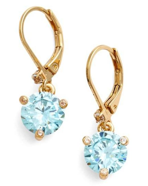 Kate Spade | Blue 'rise And Shine' Lever Back Earrings | Lyst