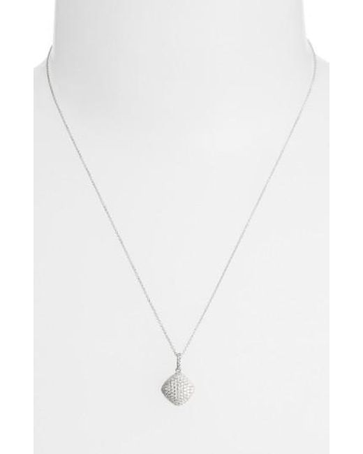 Bony Levy | Metallic Pave Diamond Pendant Necklace (limited Edition) (nordstrom Exclusive) | Lyst