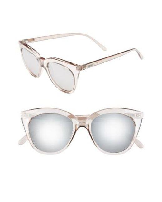 Le Specs Halfmoon Magic 51mm Cat Eye Sunglasses Stone