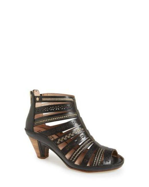 Pikolinos | Black 'java' Leather Gladiator Sandal | Lyst