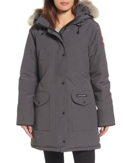 1d5f76cb ... dame aaa84 f829f italy canada goose gray trillium regular fit down parka  with genuine coyote fur trim c921d 01681 ...