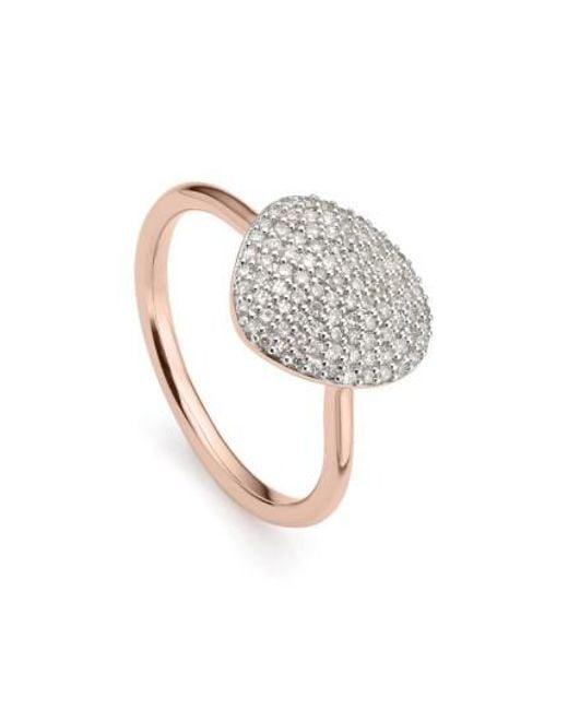 Monica Vinader   Metallic Nura Diamond Pebble Ring   Lyst