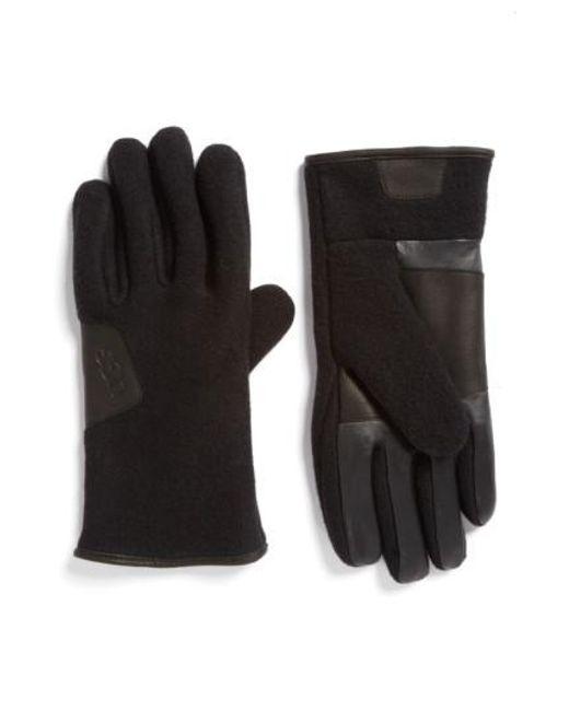 Ugg | Black Ugg Wool Blend Tech Gloves for Men | Lyst