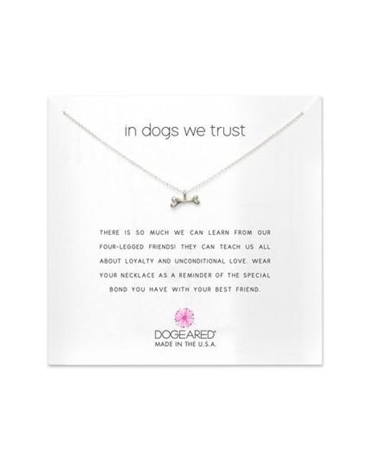 Dogeared | Metallic In Dogs We Trust Pendant Necklace | Lyst