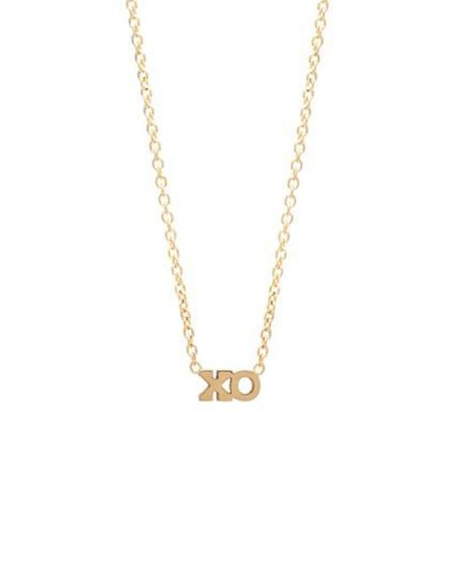 Zoe Chicco | Metallic Xo Pendant Necklace | Lyst