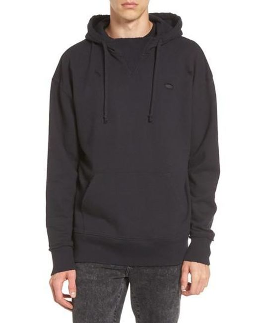 The Rail   Black Destroyed High Neck Hoodie for Men   Lyst