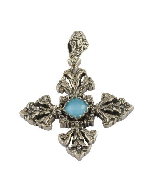 Konstantino - Metallic Aegean Large Cross Pendant - Lyst