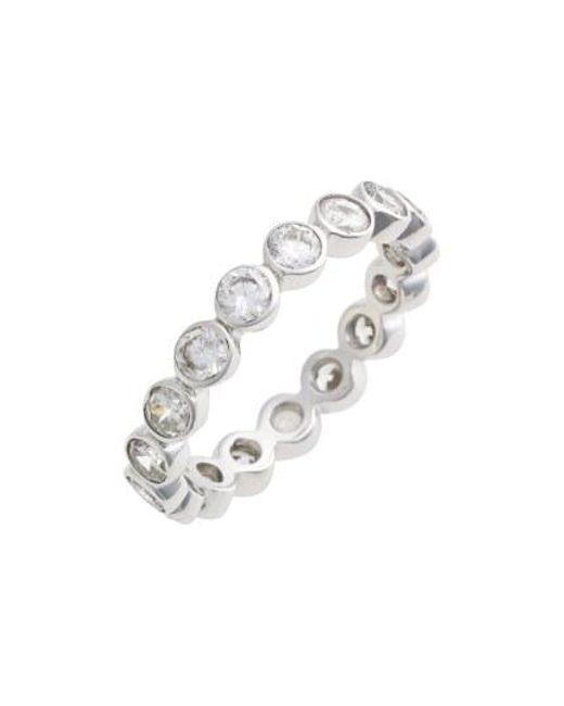 Judith Jack - Metallic Stackable Cubic Zirconia Bezel Ring - Lyst