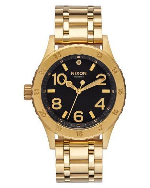 Nixon   Metallic 'the 38-20' Bracelet Watch   Lyst