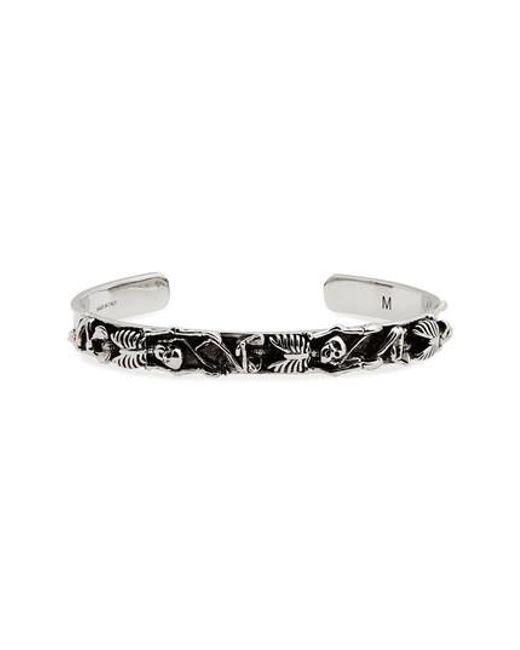 Alexander McQueen - Metallic Dancing Skeleton Cuff Bracelet for Men - Lyst
