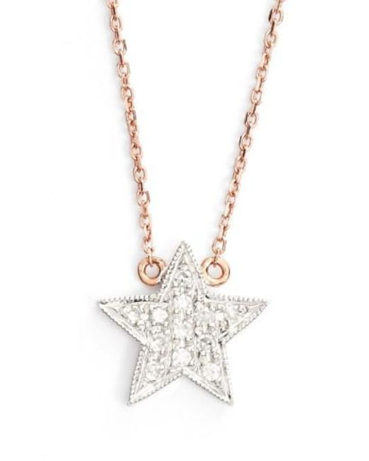 Dana Rebecca - Pink 'julianne Himiko' Diamond Star Pendant Necklace - Lyst