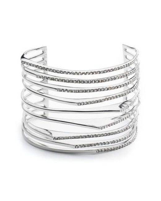 Alexis Bittar | Metallic Crystal Wrist Cuff | Lyst
