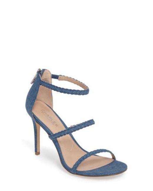 Charles David - Blue Ria Strappy Sandal - Lyst