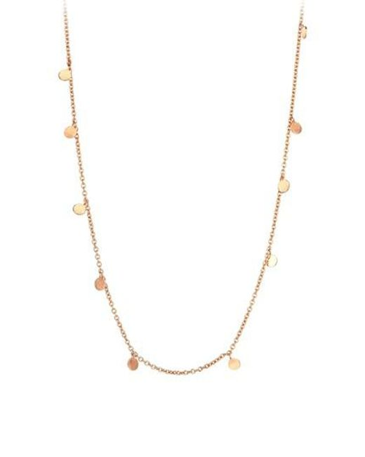 Kismet by Milka - Metallic Dangle Charm Necklace - Lyst