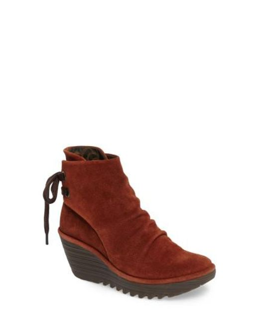 Fly London | Brown 'yama' Bootie | Lyst