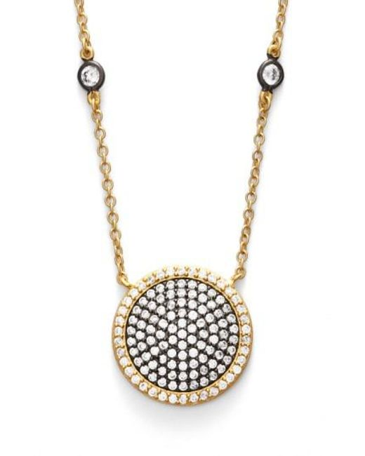 Freida Rothman | Metallic 'metropolitan' Pave Pendant Necklace | Lyst