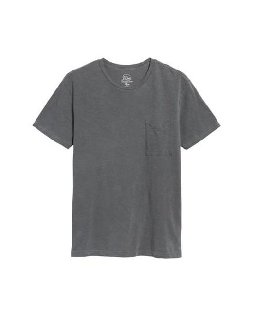 J.Crew - Black J.crew Slim Fit Garment Dyed T-shirt for Men - Lyst