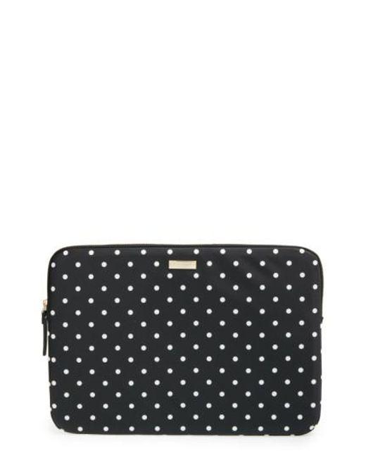 Kate Spade | Black 'classic Nylon - Mini Pavilion' Laptop Sleeve | Lyst