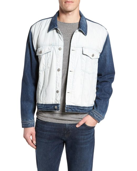 7 For All Mankind - Blue 7 For All Mankind Inside Out Trucker Jacket for Men - Lyst