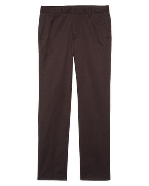 Bonobos - Brown 'weekday Warriors' Non-iron Straight Leg Cotton Pants for Men - Lyst